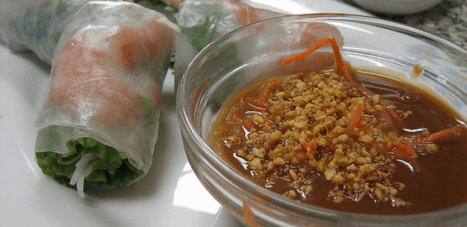 In Vietnam, peanut sauce is a very common accompaniment to certain dishes.