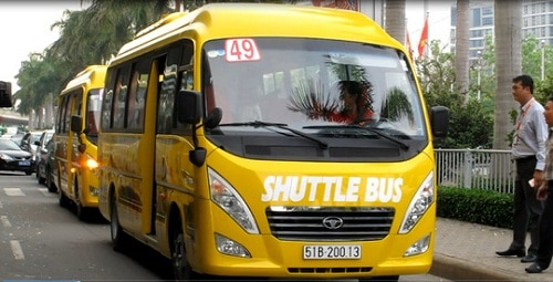 49 Yellow Shuttle Bus