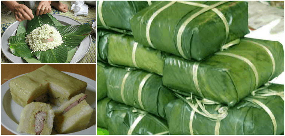 Banh Chung is the iconic food of Tet Vietnamese New Year