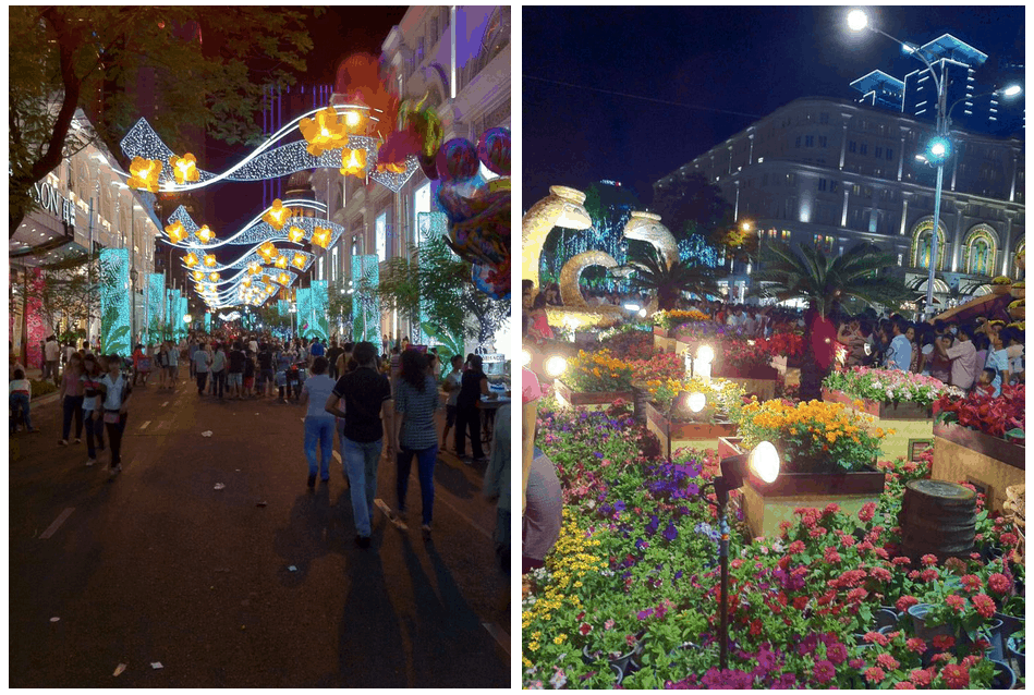 Saigon Walking street during Tet Vietnamese New Year