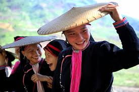 The conical hats in the Lai Chau region are a variation on the regular 'non la' shape.