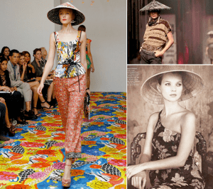 Many fashion designers have used the hat in Asian-inspired shows on the runway, and supermodel Kate Moss wore it in a magazine shoot!