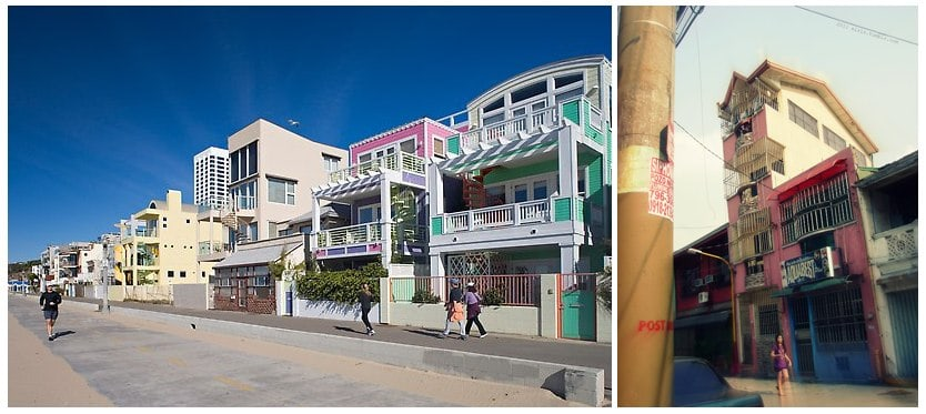 Tube style houses around the world - along Santa Monica beach in California and in the Philippines. The homes in California seem to take on this shape due to land value and space constraints. The homes in the Philippines look surprisingly similar to the tube homes in Vietnam.