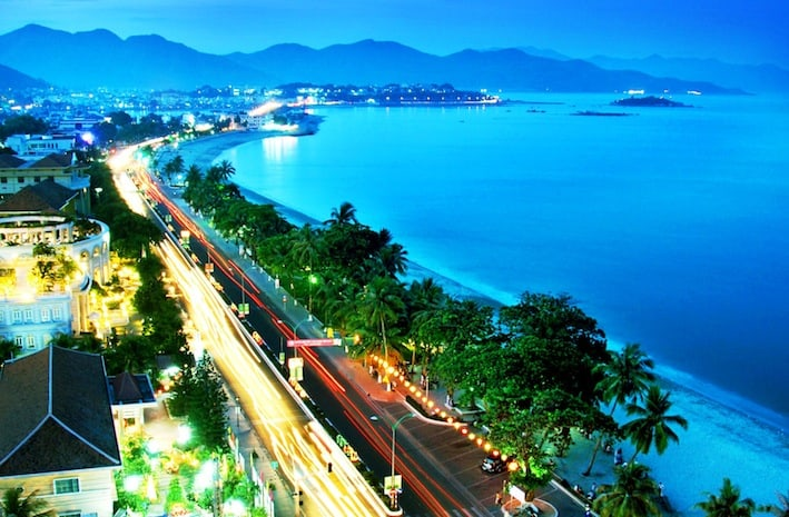Nha Trang Beach City from high above