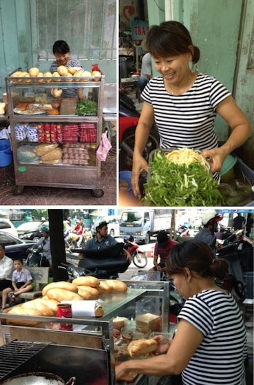 Tuyet Anh who sells banh mi in Ho Chi Minh city