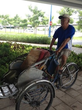 Mr. Kim - a cyclo driver in Ho Chi Minh city