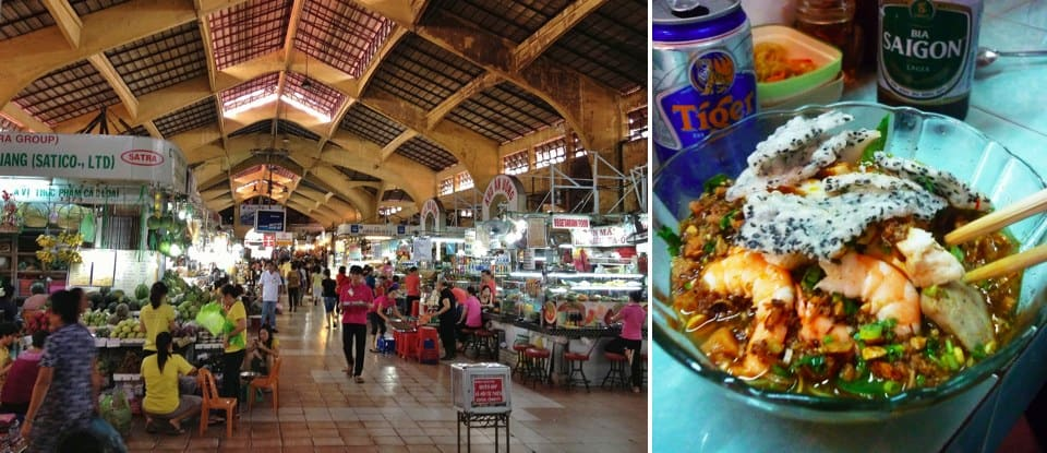 Eating inside Ben Thanh market is safe, exciting, and delicious!