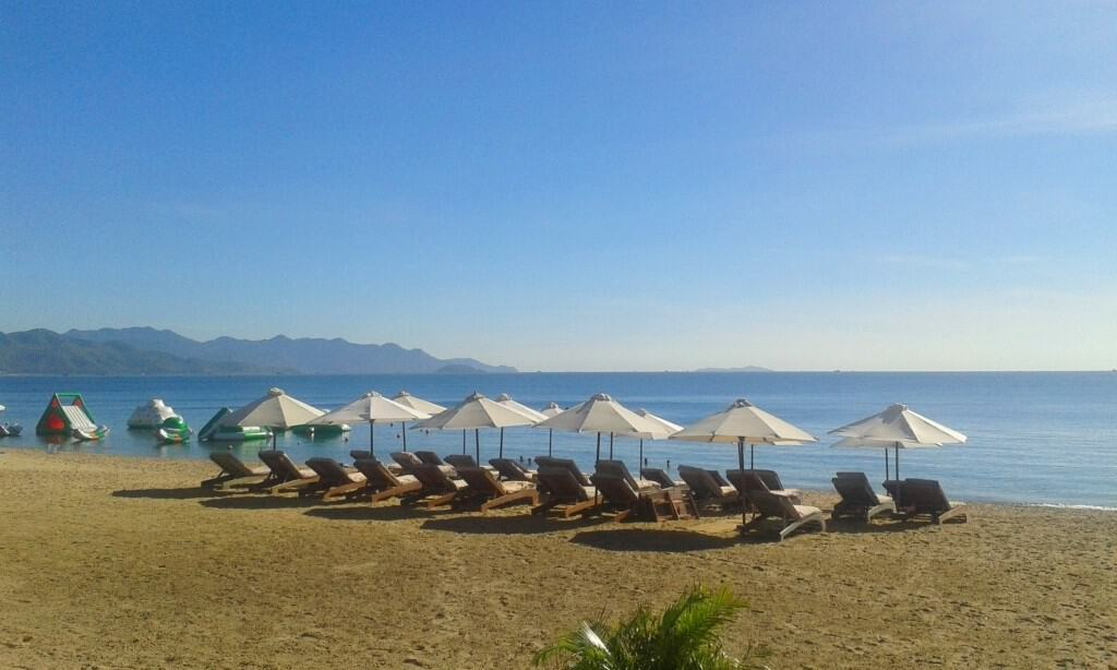 Nha Trang's beach is long and lovely, but beware of thieves