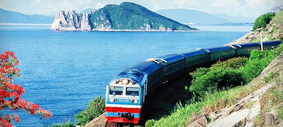 A romantic way to travel: take the Reunification Express along the coast
