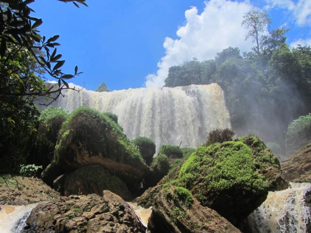 Walking on waterfalls: canyoning in Dalat