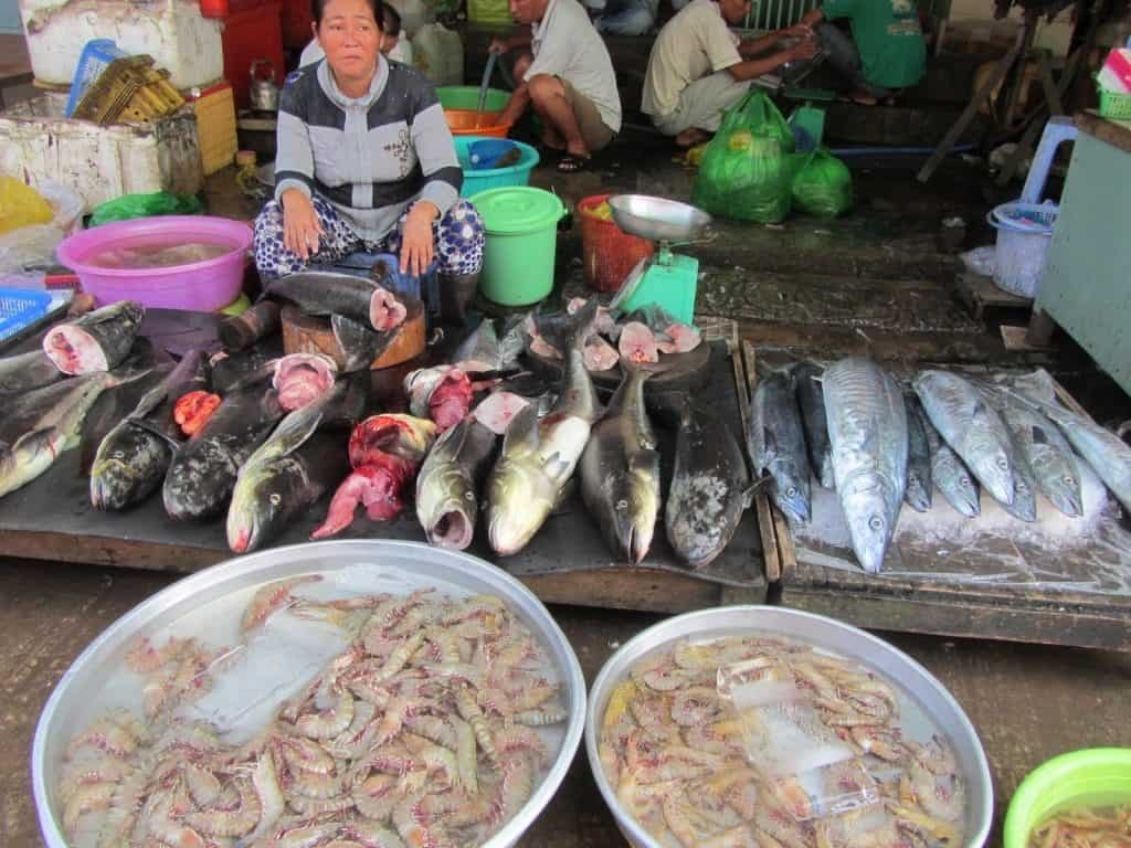 traditional seafood market in Phu Quoc Island, Vietnam