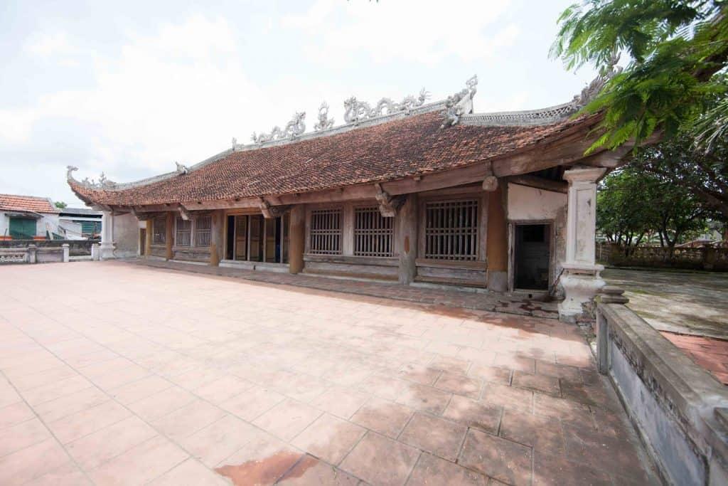 traditional Vietnamese pagoda in Quan Lan Island, Vietnam