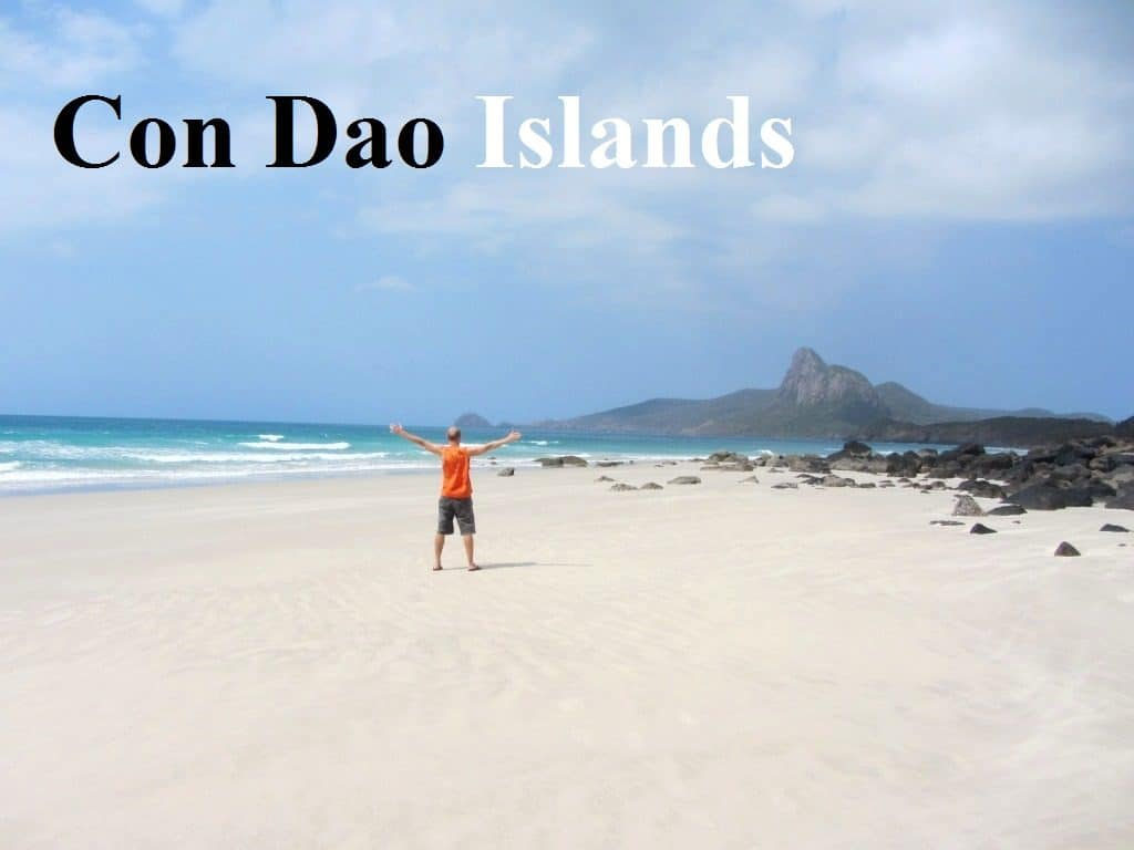 White Sand And Blue Sea In Con Dao Islands Vietnam