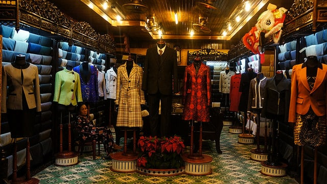 Custom tailoring is a huge industry in Hoi An
