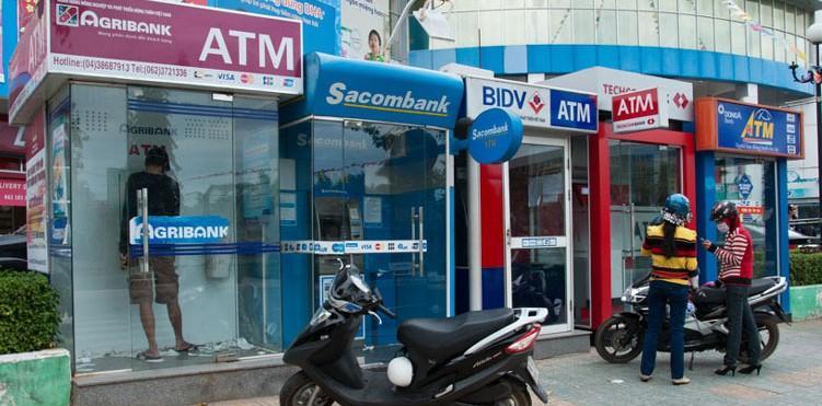 ATM location Agribank, Sacombank, BIDV Bank