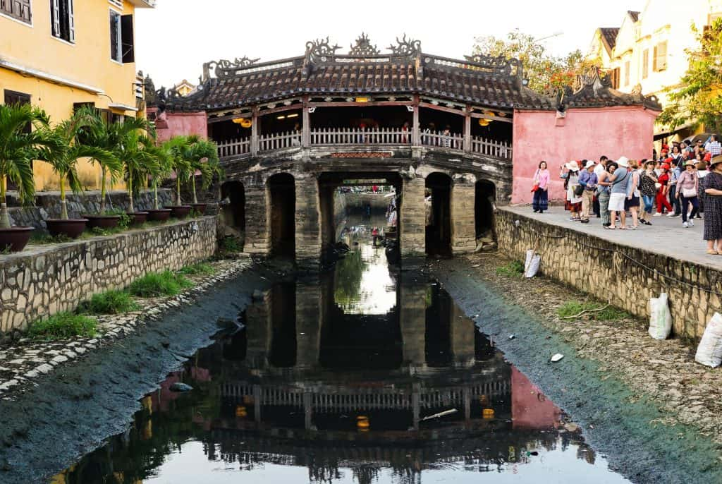 Japanese bridge is the most popular site to get great photos in Hoi An