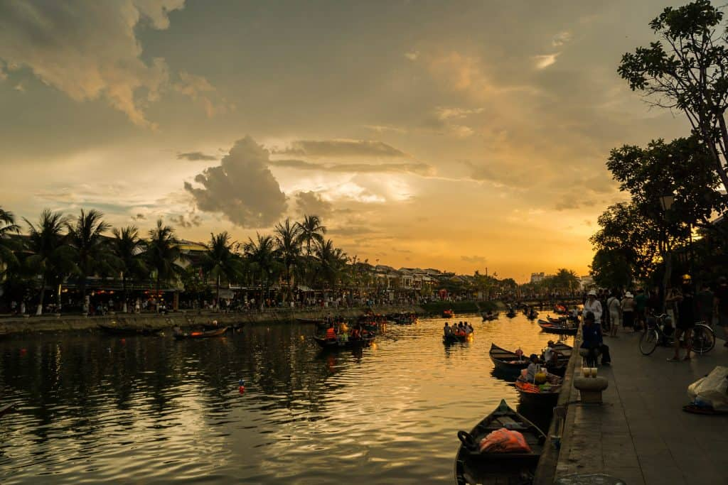 Hoi An River at dusk
