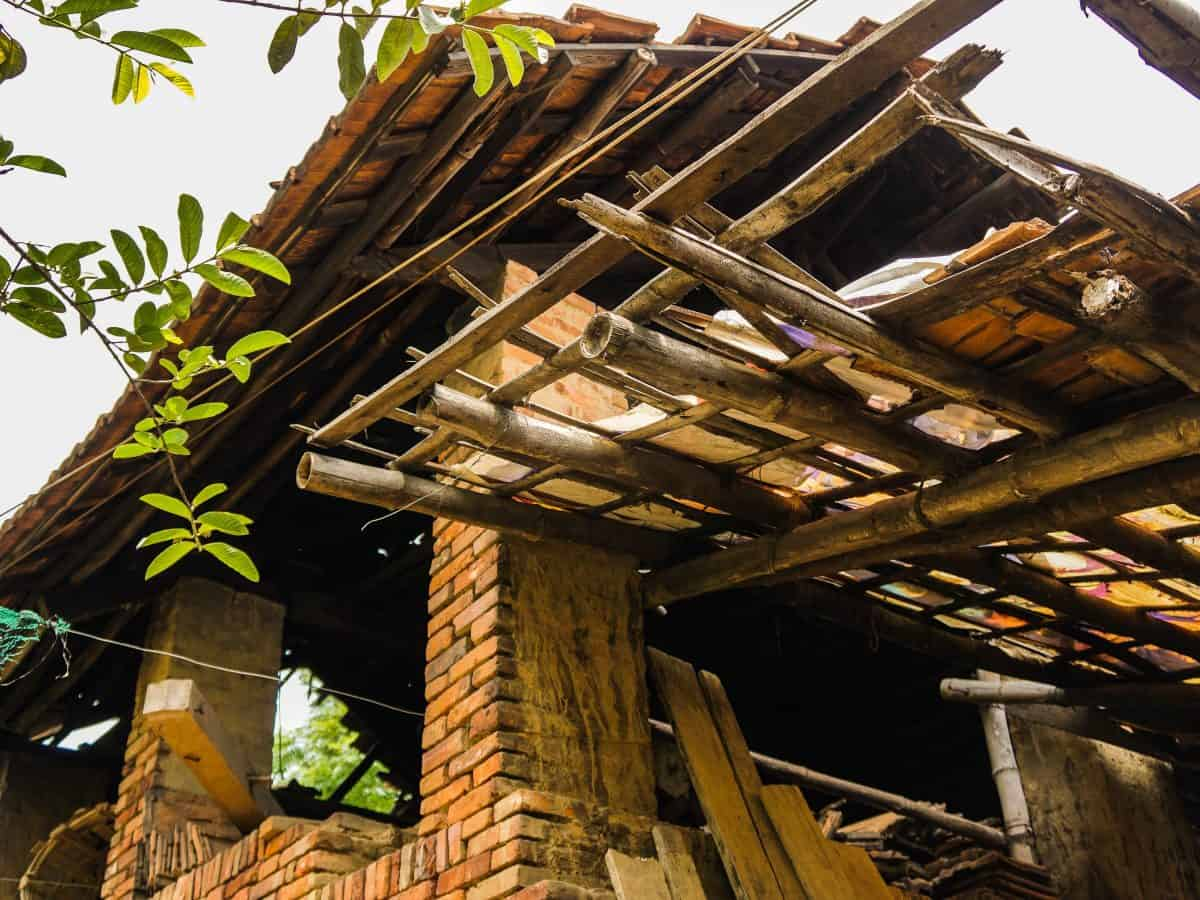 Rustic Bamboo Roof