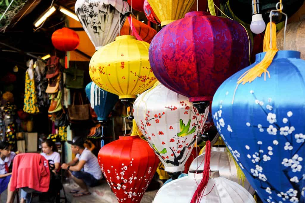 Hoi An colorful silk Lanterns