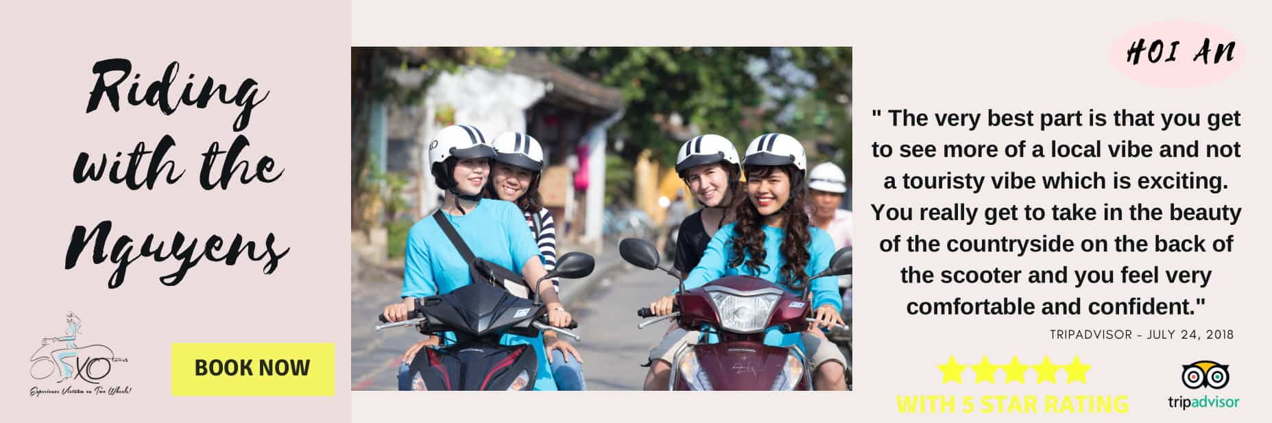 2 XO Girls driving guests on motorbikes