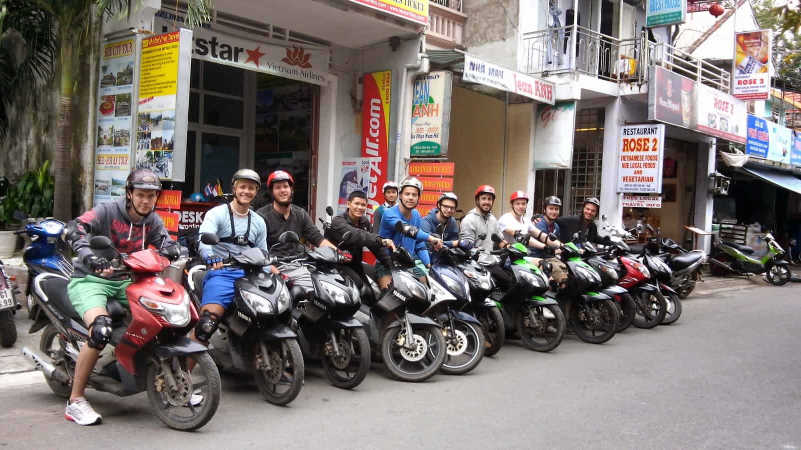 Many travelers love to travel Vietnam by scooter