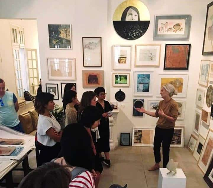 Visiting an art studio with Sophie's Art Tour