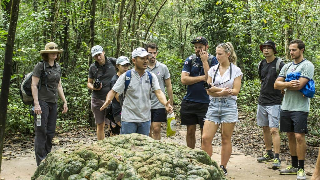 Visiting the Cu Chi Tunnels Tour with Les Rives