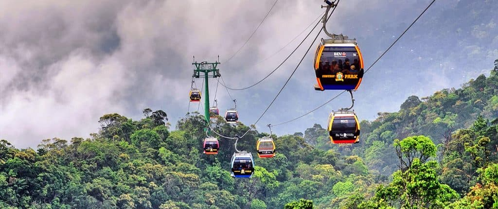 cable car in Vietnam at Ba Na Hills