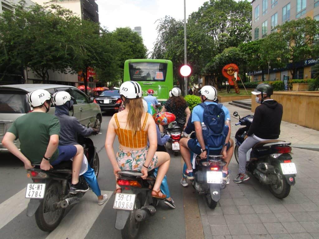 Fun ride with XO girls around Saigon
