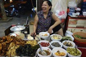 Friendly street food vendor