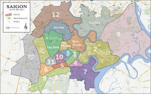 Saigon district map