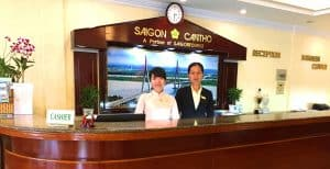 Hotel reception at Cantho Hotel Saigon