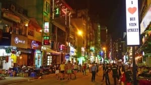 Backpacker street Saigon