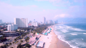 Danang beachfront area