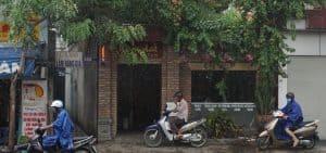 Saigon damp sidewalk