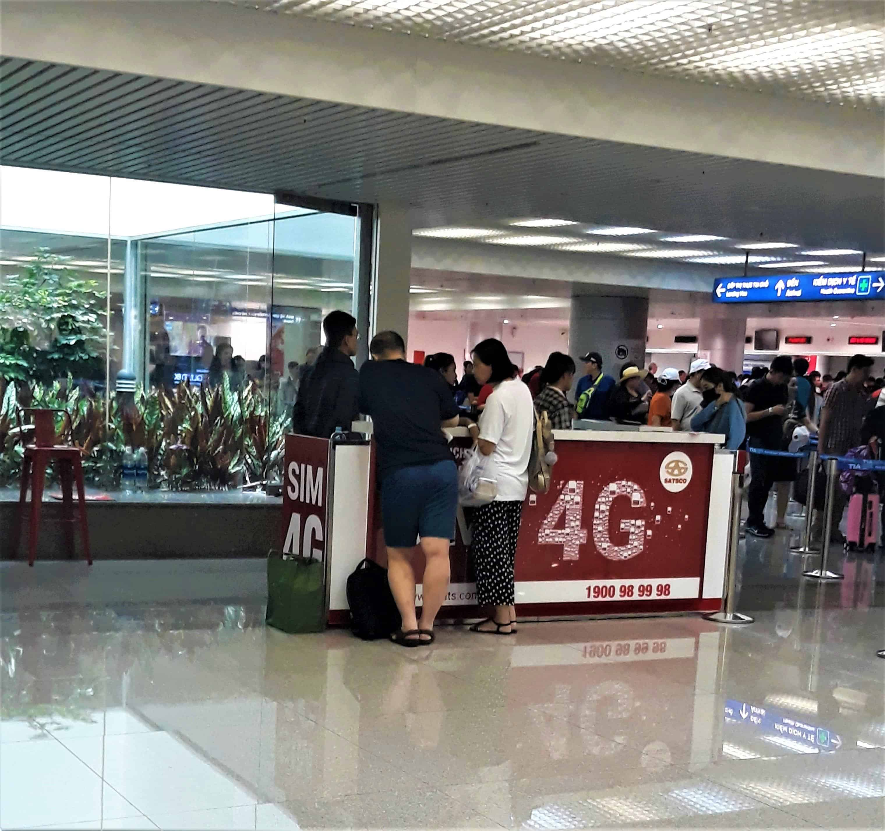 Sim card counter located at second floor (Before you get in line for imigration custom)