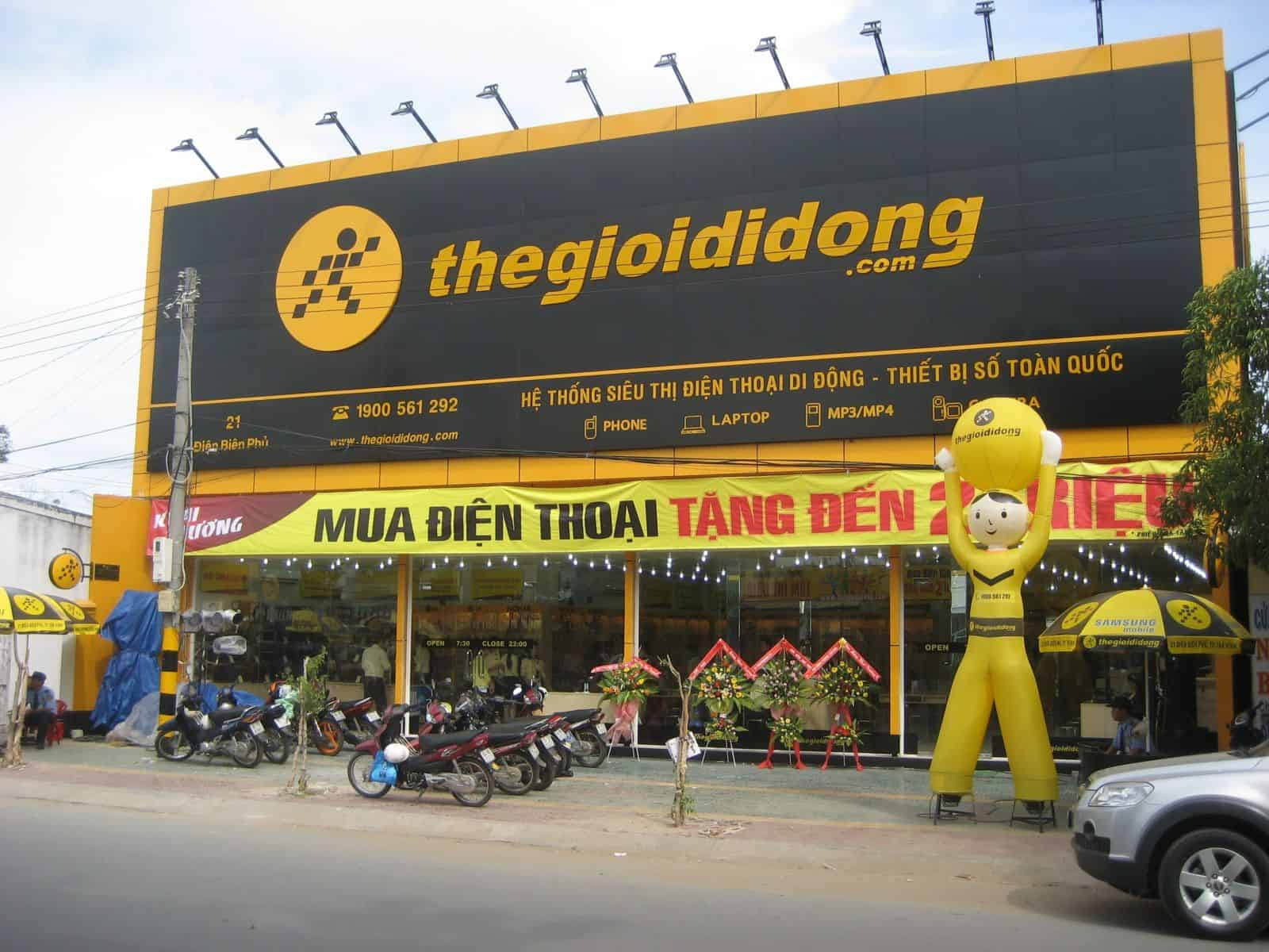 SIM cards can also be purchased at thegioidiong stores