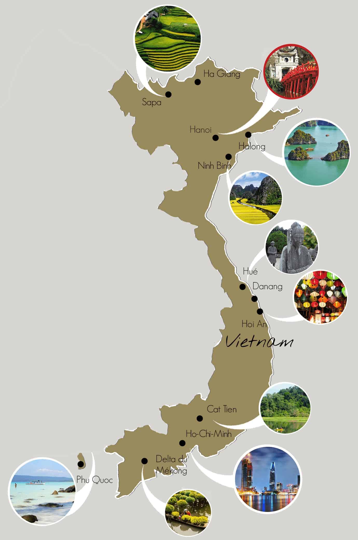 Tourism cities in Vietnam