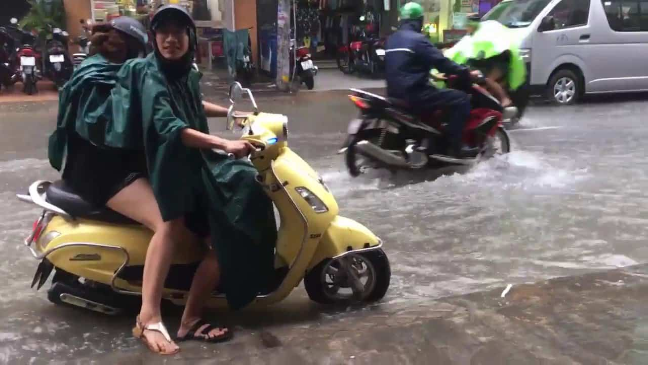 Saigon flooded street