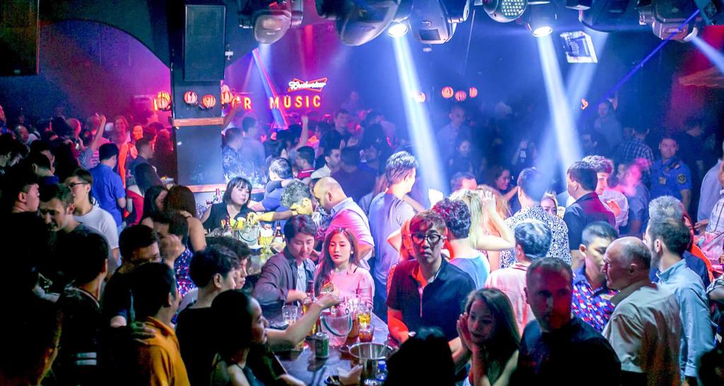 Crowded nightclub