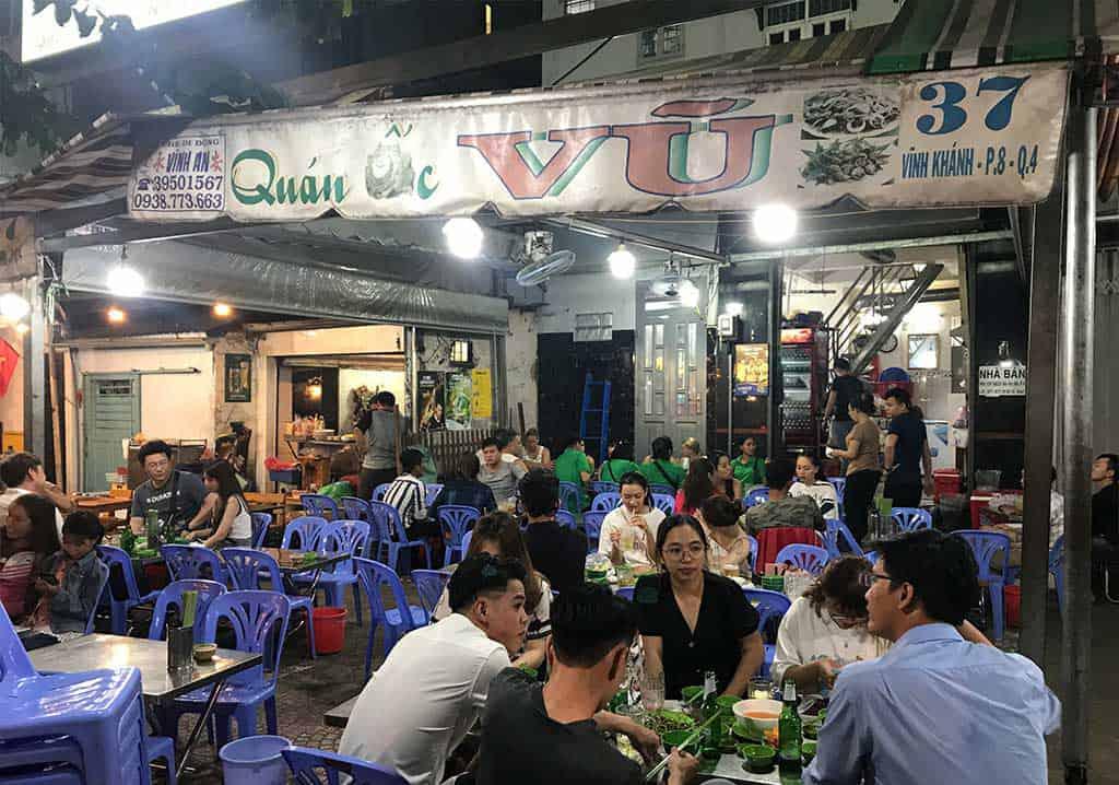 Shellfish restaurant Saigon