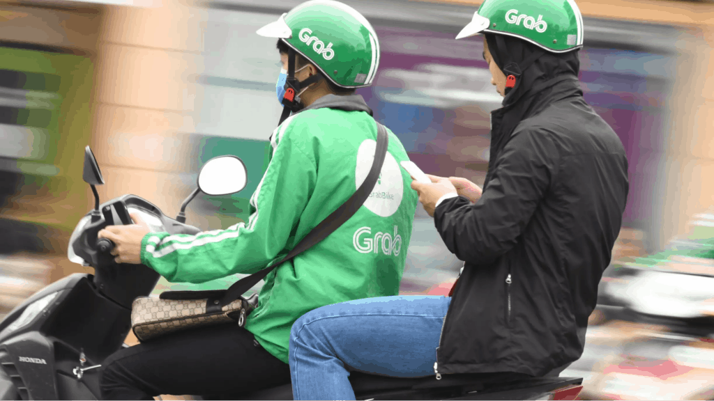 Grab bike with passanger