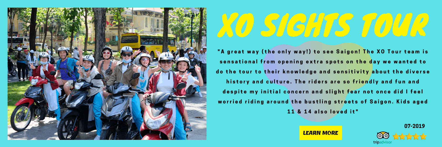 family of 4 on XO scooter tour